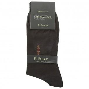 Chaussettes FIL D'ECOSSE Emporio balzani FIL-BROWN