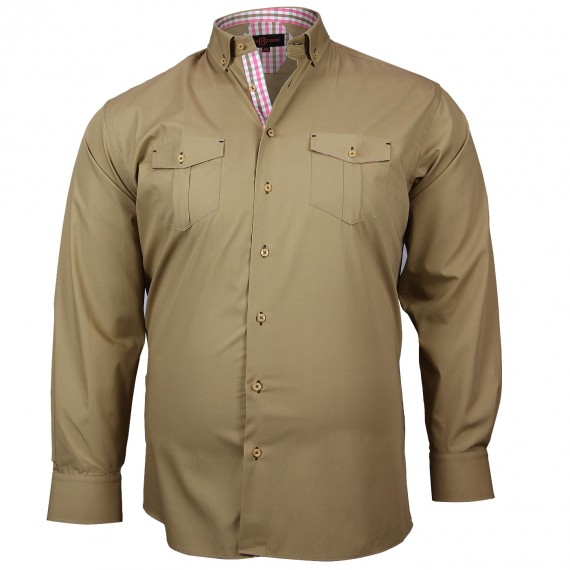 CHEMISE GRANDE TAILLE POCKET Doublissimo GT-M5DB5