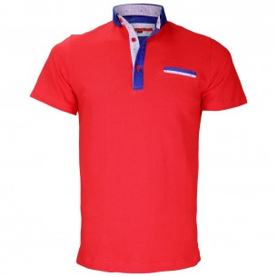 Polo col boutonnéeSTUDLAND Andrew Mc Allister TM5-RED