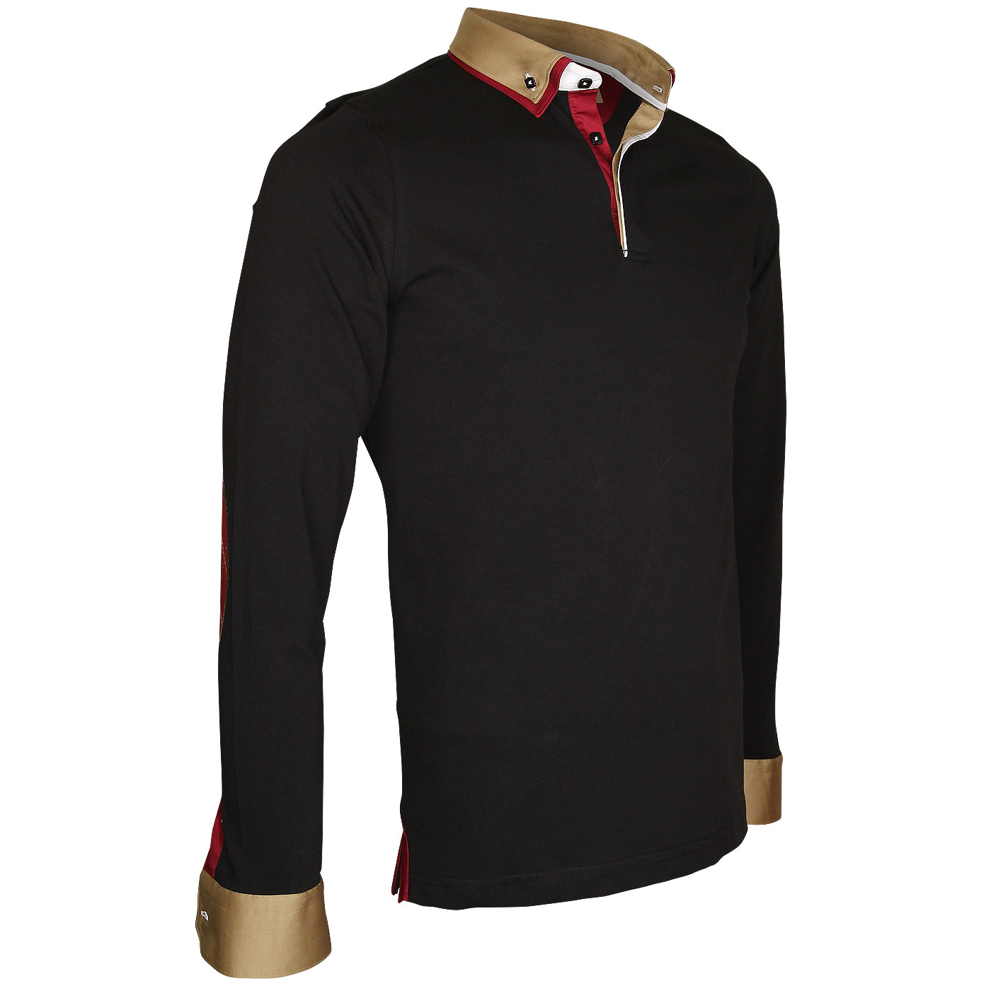 Polo jersey doble cuello