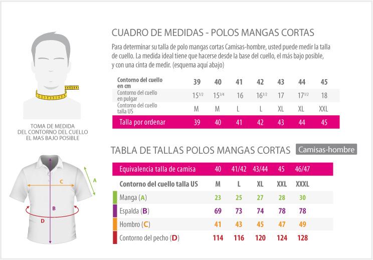 cuadros de medidas - POLO TALLAS GRANDES